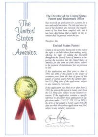 アメリカ合衆国特許