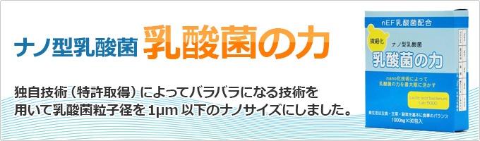 【新商品】ナノ型 乳酸菌の力